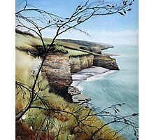Towards Llantwit Major - South Wales coastal view Photographic Print