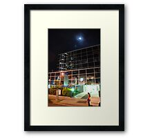 Moon over Southport Framed Print