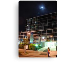 Moon over Southport Canvas Print