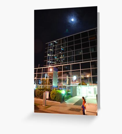 Moon over Southport Greeting Card