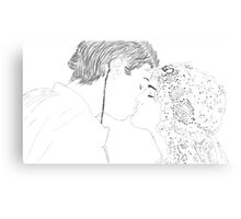 Anakin and Padme Wedding Re-draw Canvas Print
