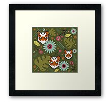 Tigers in the Jungle Framed Print