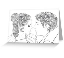 Han and Leia Bespin Re-draw Greeting Card