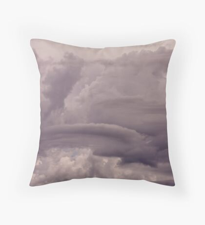 Stormclouds at Mount Gambier Throw Pillow