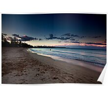 Manly Beach At Dusk Poster