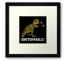 Tyrannosaurus Rex with Grabbers is UnStoppable 2 Framed Print
