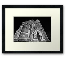 Liberty Church - Wide Angle Monochrome Framed Print