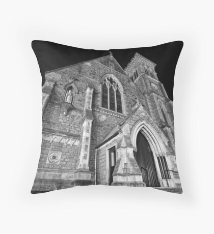 Liberty Church - Wide Angle Monochrome Throw Pillow
