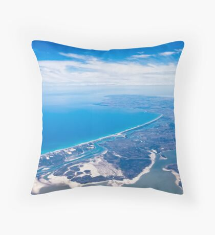 Aerial view of SA's South East Throw Pillow