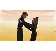 Anakin and Ahsoka Photographic Print