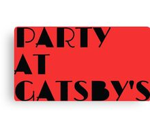Party at Gatsby's Canvas Print