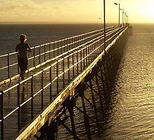 Mid-stride, Ceduna Pier, SA by Ell-on-Wheels
