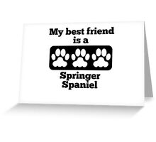 My Best Friend Is A Springer Spaniel Greeting Card
