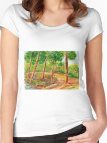 The Gladness of Nature Women's Fitted Scoop T-Shirt
