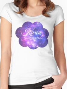 Karen and The Babes (White Font) Women's Fitted Scoop T-Shirt