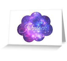 Johnlock (Starry Font) Greeting Card