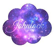 Johnlock (Starry Font) Photographic Print