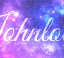 Johnlock (Starry Font) Sticker