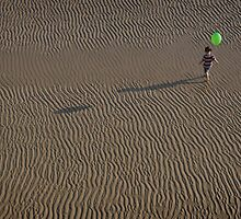 Girl With Green Balloon by natalia martin de pablos