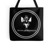 Seitan Worshipper in Black and White Tote Bag