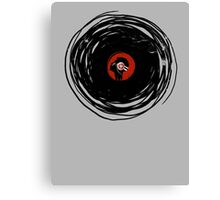 I'm spinning within with a vinyl record... GRUNGE TEXTURE Canvas Print