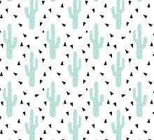 Cactus - modern minimal pattern print triangles geometric trendy hipster coachella festival  by charlottewinter