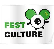 FestCulture Logo Original Green - Light Poster