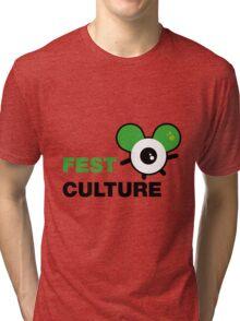 FestCulture Logo Original Green - Light Tri-blend T-Shirt