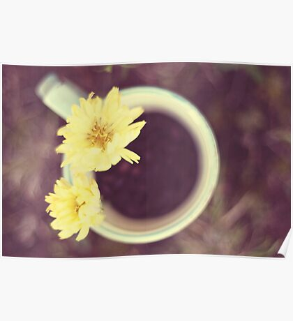 Flowers in my coffee  Poster