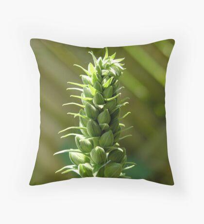 Digitalis buds Throw Pillow