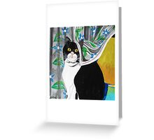 The watcher in the window... Greeting Card