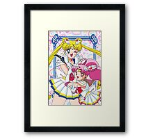 Sailor Moon And Chibi Moon Framed Print