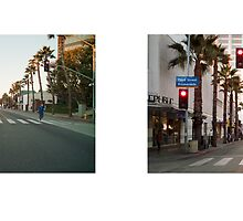 Wilshire Boulevard + 3rd Street Promenade, Santa Monica, Los Angeles, California, USA...narrowed. by David Yoon