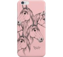 Home is where my horse is - pink iPhone Case/Skin