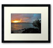St, John Sunset Framed Print