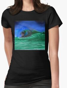 80's Surf Style - Tubed! Womens Fitted T-Shirt