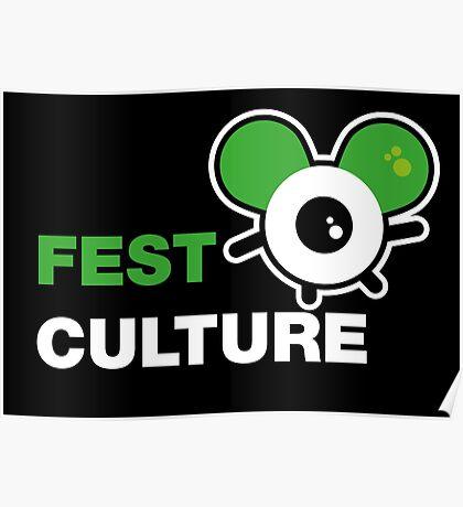 FestCulture Logo Original Green - Dark Poster