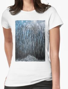 Winter woodland Womens Fitted T-Shirt