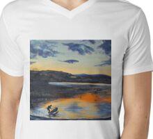 Sunset on Windermere Mens V-Neck T-Shirt
