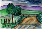 Painting a landscape by Elizabeth Kendall