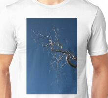 Silver and Blue - a Metal Tree Sculpture Plus Blue Sky and Sunshine Unisex T-Shirt