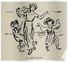 Kate Greenaway Collection 1905 0555 On Letter to Ruskin Poster