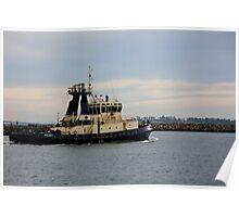 Tug Boat Under Pastel Skies Poster