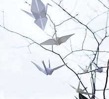 Origami Crane Tree by Silverdays