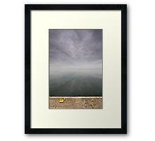 Poised at the edge of equilibrium Framed Print