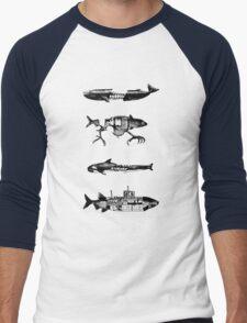 Fish Pattern Men's Baseball ¾ T-Shirt