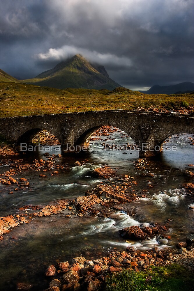 Marsco and the Old Bridge at Sligachan, Isle of Skye. Scotland. by PhotosEcosse