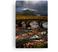 Marsco and the Old Bridge at Sligachan, Isle of Skye. Scotland. Canvas Print