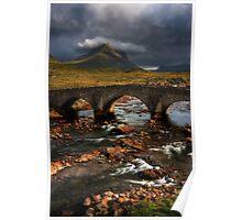 Marsco and the Old Bridge at Sligachan, Isle of Skye. Scotland. Poster