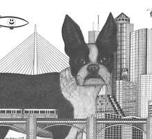 Boston Terrier  by Richie Montgomery